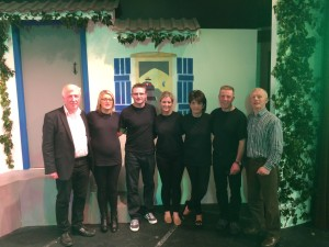 The Dancing Queen Organising Committee of Karla McKinless, Paul Duffy, Ciara Curran, Noelle Wylie, Martin O'Neill, Gerry Vincent Forbes (Paddy O'Neill missing from picture) with Producer Gerry Cunningham