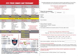 Tyrone Summer Camps A5-2